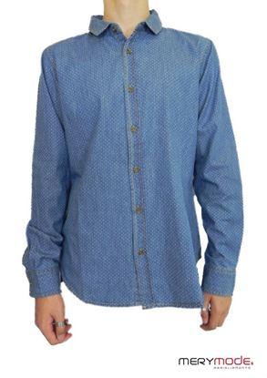 Immagine di camicia in jeans leggera ragazzo  Trez art. cino-490