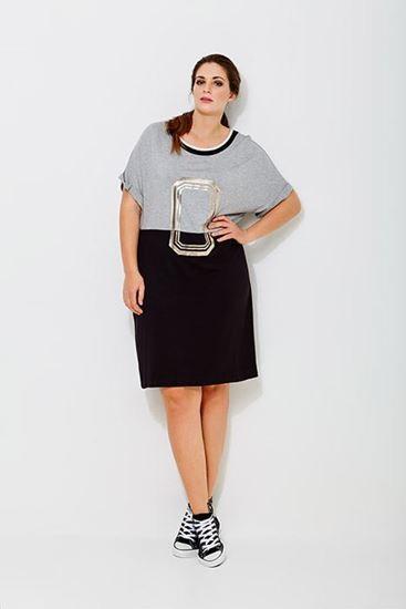 Immagine di Abito mat fashion in maglina Curvy art. 6917101