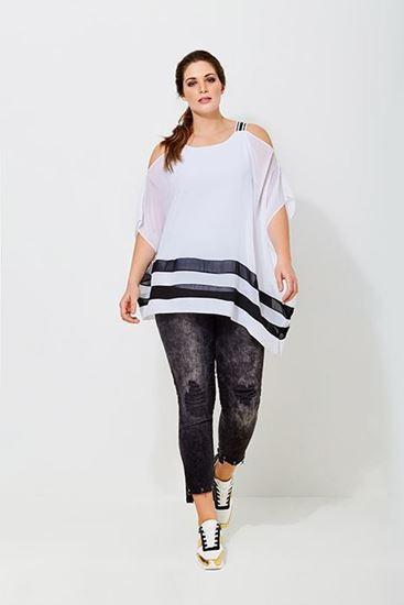 Immagine di Blusa spalla larga Curvy di Mat fashion art. 6911039