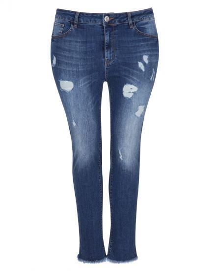 Immagine di Jeans elasticizzati con strappi Curvy art. 6932003