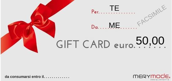 Immagine di GIFT CARD 50 EURO