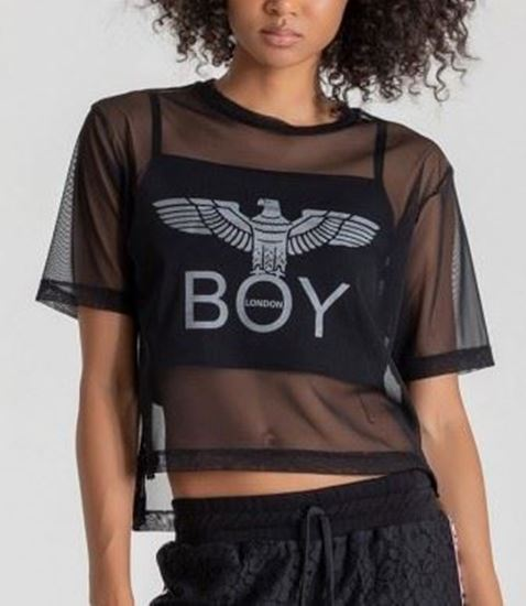 Immagine di T-shirt manica corta donna più top Boy London art. BLD1978