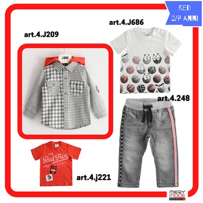 """Immagine di """"Outfit BIMBO RED"""" di iDO 2/7 anni  primavera/estate"""