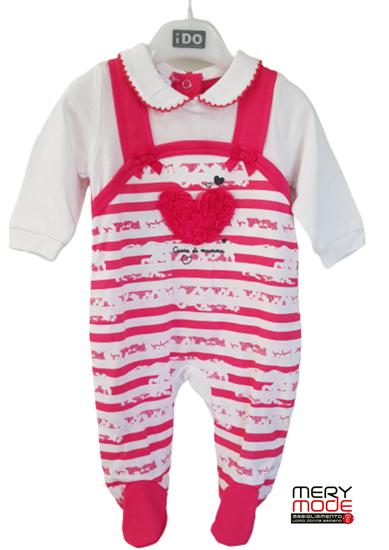 Immagine di Tutina intera neonata leggera con piede iDO art.4S139