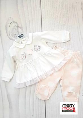 Immagine di Tutina 2 pezzi neonata leggera con piede iDO art.4q121