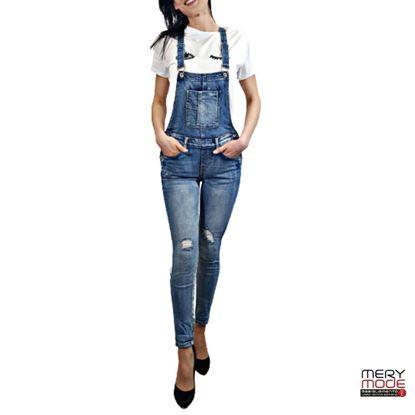 Immagine di Salopette Jeans donna skinny Stilosella art. 3D-7066