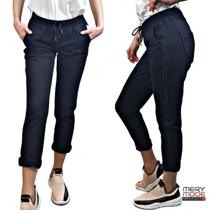 Immagine di Pantalone felpa leggera donna con banda lurex art. 820621A