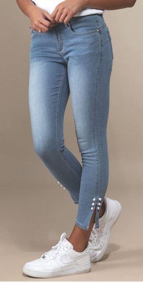 Immagine di Jeans donna capri con perle di GRIFFAI art. dgp77