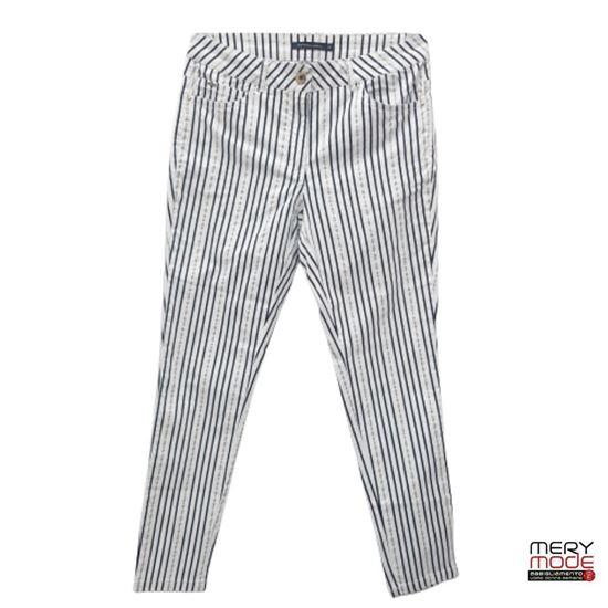 Immagine di Pantalone 5 tasche cotone righe art. CY8W