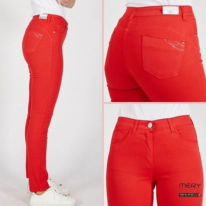 Immagine di Pantalone 5 tasche cotone Iber mod. Malika