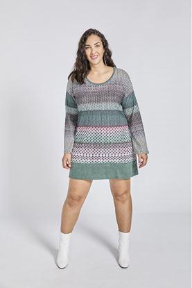 Immagine di Abito in maglia calda in fantasia donna SPG woman art.21516